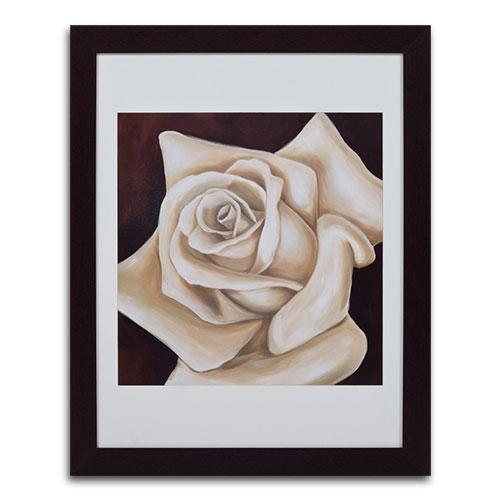 Quadro Decorativo Rosa Branca em Madeira - 111x91 cm