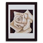 Quadro Decorativo Rosa Branca em Madeira