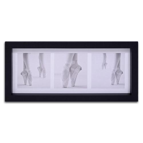 Quadro Decorativo Sapatilhas de Ballet em Madeira - 55x25 cm