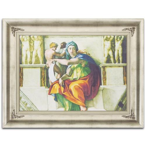 Quadro Decorativo Sibila Delfica em Madeira - 92x71 cm