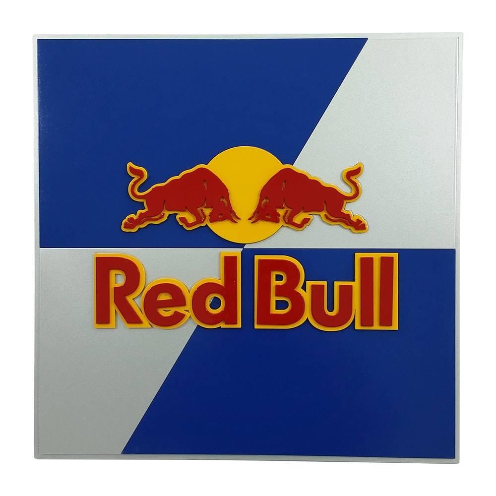 Quadro Decorativo Símbolo Energético Red Bull Azul e Branco em MDF - 40x40  cm. Loading zoom b4de2fd6f92