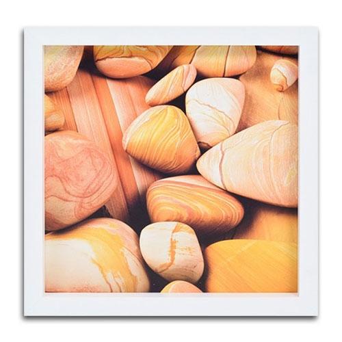 Quadro Decorativo Stones em Madeira - 34x34 cm
