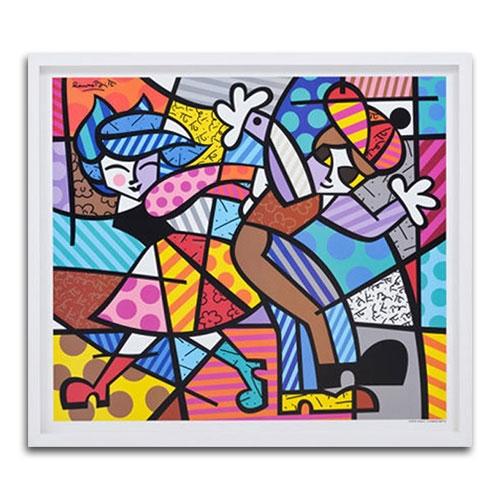 Quadro Decorativo Street Dance em Madeira - 76x67 cm