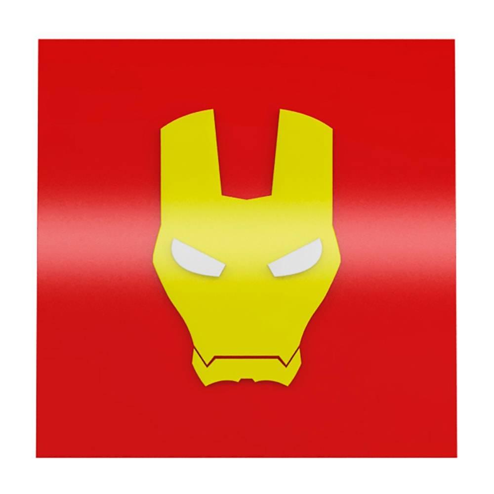 Quadro Decorativo Super Heroi Iron Man Vermelho em MDF - 40x40 cm