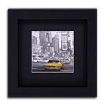 Quadro Decorativo Táxi Amarelo de New York em Madeira