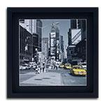 Quadro Decorativo Táxi New York - USA - em Madeira