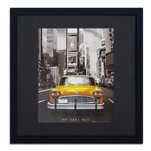 Quadro Decorativo Táxi NY em Madeira - 69x67 cm