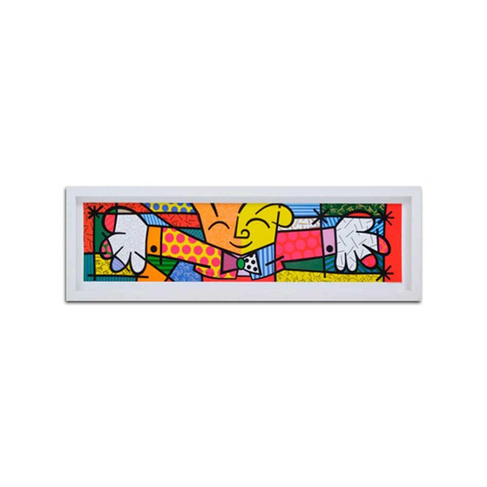 Quadro Decorativo The Hug em Madeira - 105x30 cm