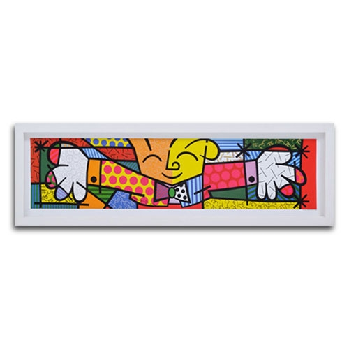 Quadro Decorativo The Hug Médio em Madeira - 83x26 cm