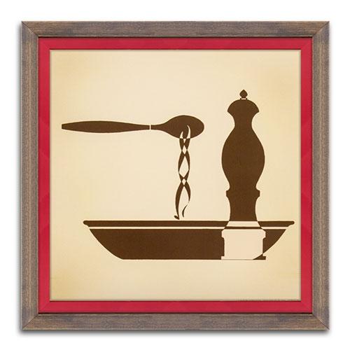 Quadro Decorativo The Soup em Madeira - 38x38 cm