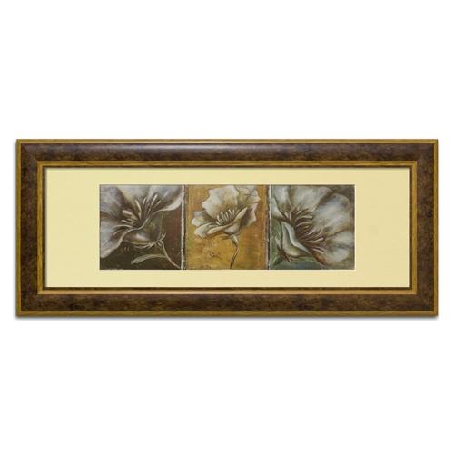 Quadro Decorativo The Three Poppies em Madeira - 137x61 cm