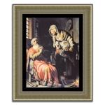 Quadro Decorativo Tobias, Anna e o Cabrito em Madeira