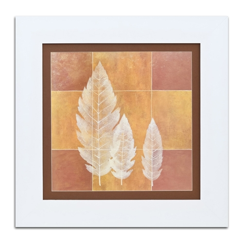 Quadro Decorativo Três Folhas em Madeira - 74x74 cm