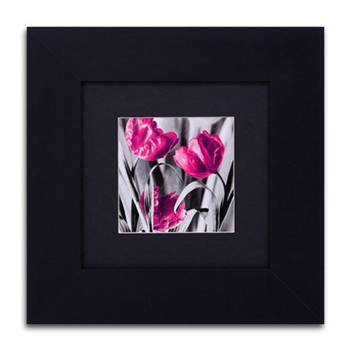 Quadro Decorativo Trio Flora em Madeira - 39x39 cm