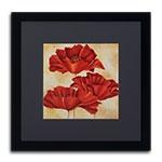 Quadro Decorativo Trio de Flores Vintage em Madeira