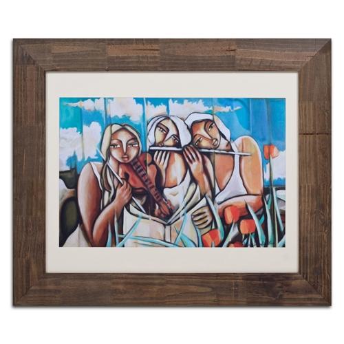 Quadro Decorativo Trio de Mulheres em Madeira - 122x102 cm