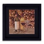 Quadro Decorativo Uvas e Vinhos em Madeira