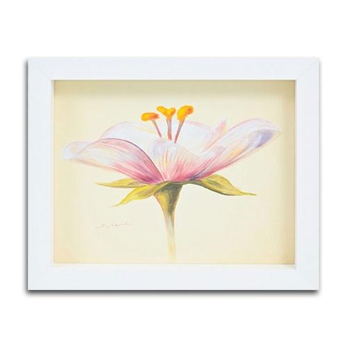 Quadro Decorativo Vintage Flower em Madeira - 29x24 cm