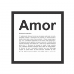 Quadro dicionário - Amor