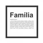 Quadro dicionário - Família