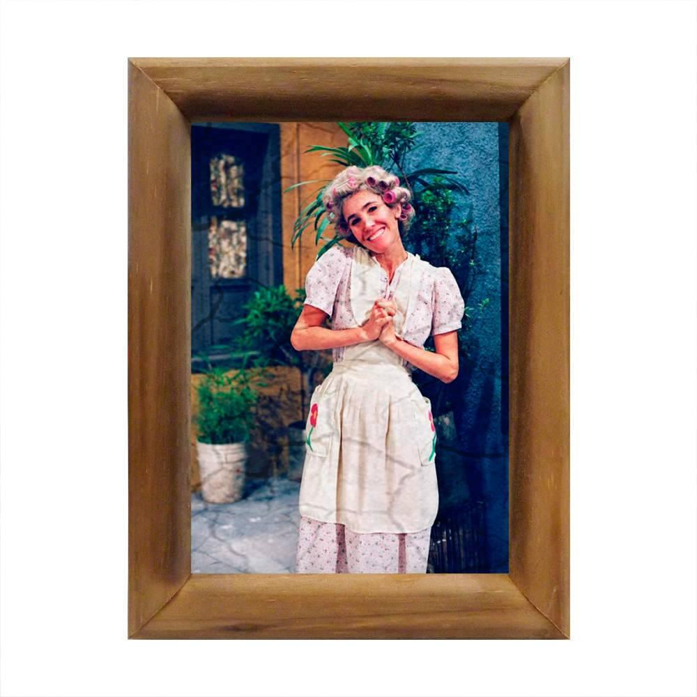 Quadro Dona Florinda Turma do Chaves com Moldura em Madeira - 26x20 cm