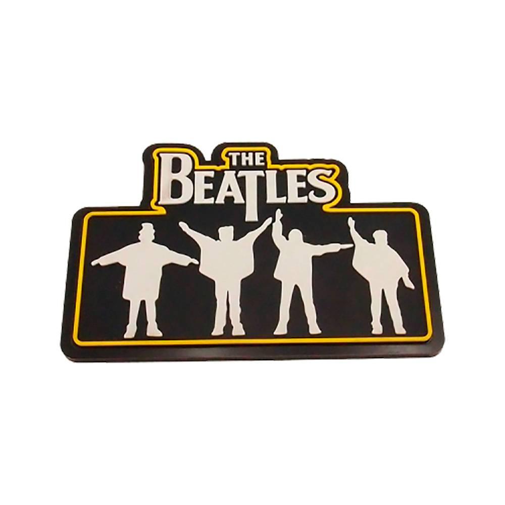Quadro Emborrachado Beatles Preto e Branco em MDF - 22x20 cm