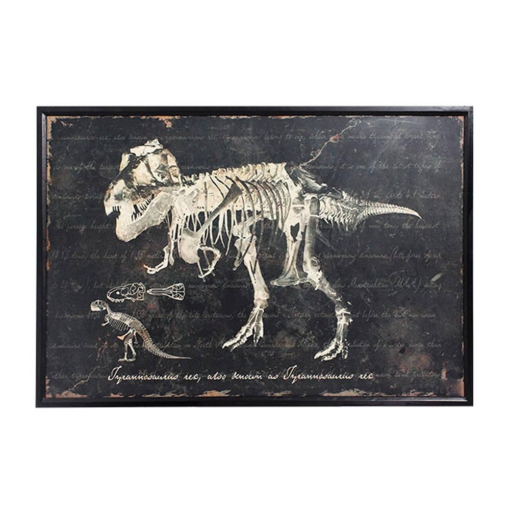 Quadro Esqueleto de Tiranossauro Oldway - 120x80 cm