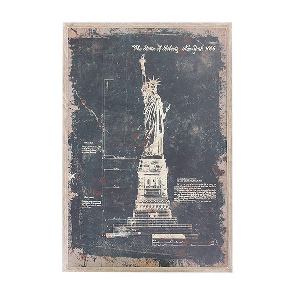 Quadro Estátua da Liberdade Oldway - 120x80 cm