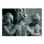Quadro Estátuas Paris Impresso em MDF - 100x70 cm