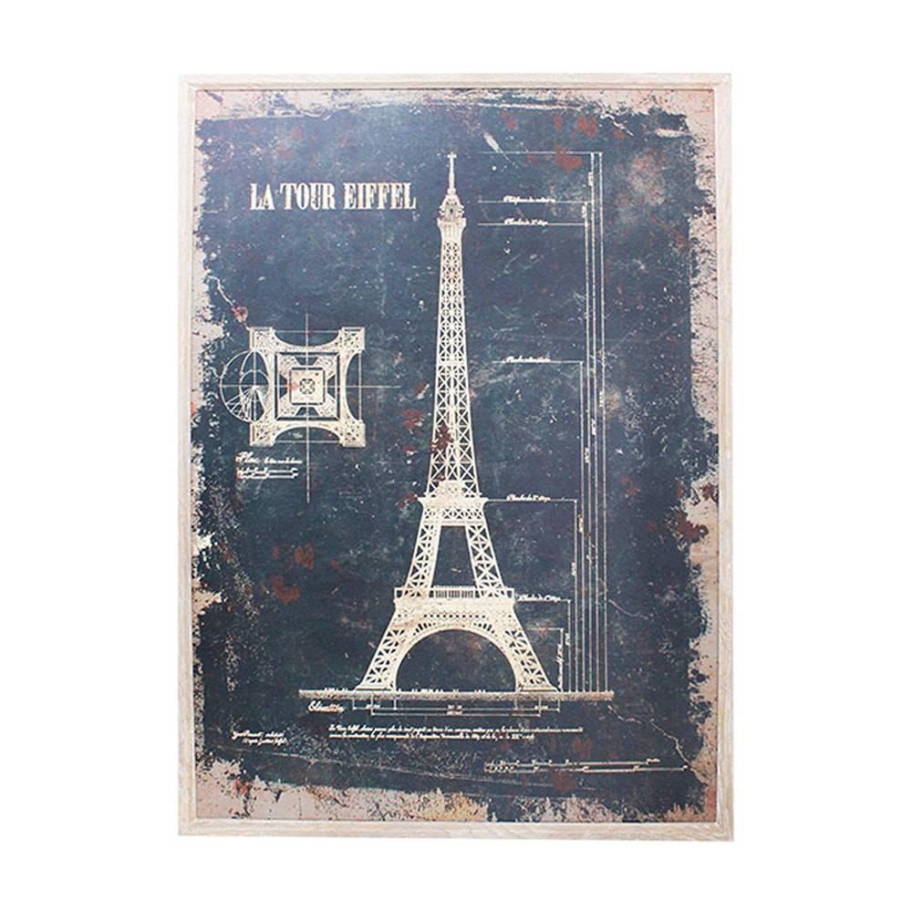 Quadro Estrutura da Torre Eiffel Oldway - 120x80 cm