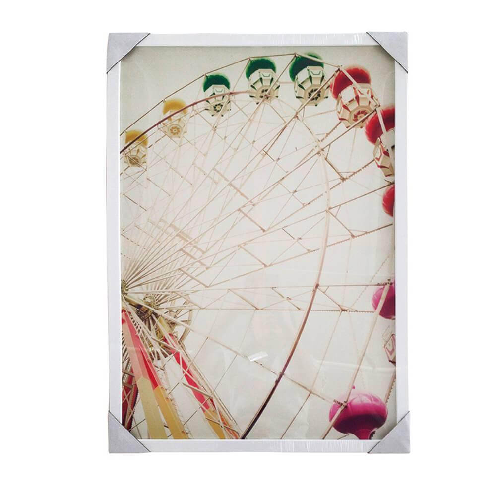 Quadro Ferris Wheel com Moldura - Urban - 70x50 cm