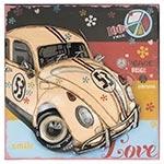 Quadro de Ferro Fusca Herbie Love Oldway - 40x40x9 cm