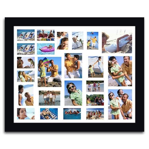 Quadro de Fotos 24 Moments - Moldura Preta - em Madeira - 111x91 cm