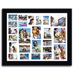 Quadro de Fotos 24 Moments - Moldura Preta - em Madeira