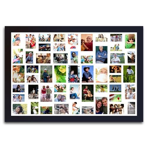 Quadro de Fotos 53 Moments - Moldura Preta - em Madeira - 161x111 cm