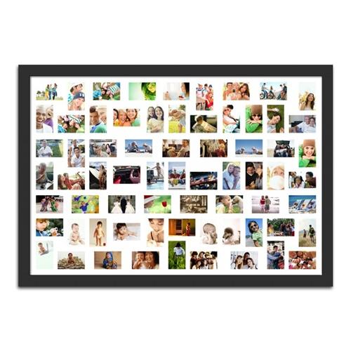 Quadro de Fotos 68 Moments - Moldura Preta - em Madeira - 161x111 cm