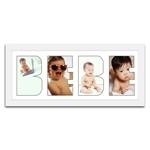 Quadro de Fotos Bebê - Moldura Branca - em Madeira