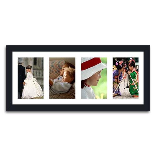 Quadro de Fotos Four Moments em Madeira - 51x23 cm
