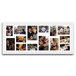 Quadro de Fotos Fourteen Moments - Moldura Branca