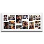 Quadro de Fotos Fourteen Moments - Moldura Branca - em Madeira - 100x43 cm