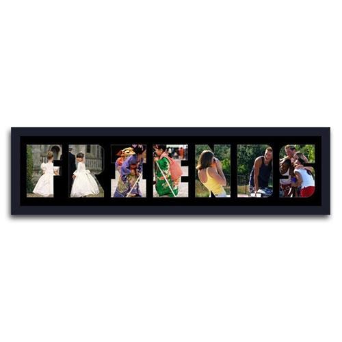 Quadro de Fotos Friends - Moldura Preta - em Madeira - 80x22 cm