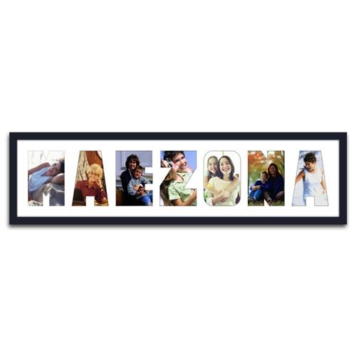 Quadro de Fotos Mãezona - Moldura Preta - em Madeira - 80x22 cm