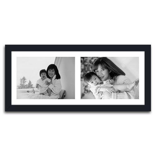 Quadro de Fotos Two Moments - Moldura Preta - em Madeira - 51x23 cm