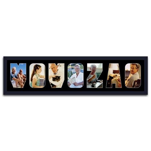 Quadro de Fotos Vovozão - Moldura Preta - em Madeira - 80x22 cm