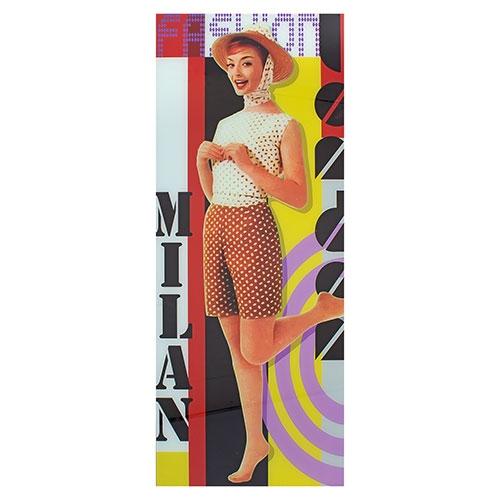 Quadro Frente de Vidro Angel London e Milan Fullway - 125x50 cm