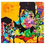 Quadro Frente de Vidro Audrey Colorido Fullway - 60x60 cm