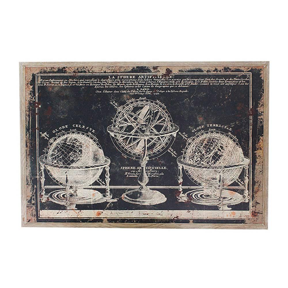 Quadro Globos e Astrolábio Oldway - 120x80 cm