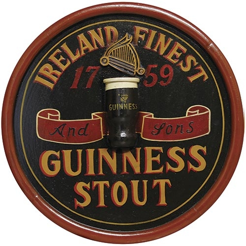 Quadro Guinness Stout Redondo Oldway - 48 cm