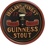 Quadro Guinness Stout Redondo Oldway