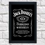 Quadro Jack Daniel,s grande (c/ moldura)